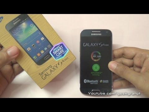 Samsung Galaxy S4 Mini Duos Unboxing GT I9192 ver launching in India