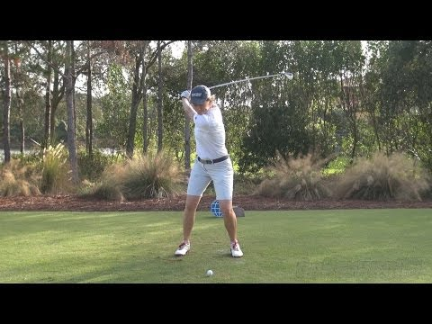 CATRIONA MATTHEW - STRAIGHT FACE ON DRIVER GOLF SWING LATE 2013 - REG & SLOW MOTION - 1080p