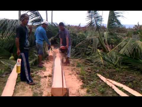 Cutting Coconut Lumber