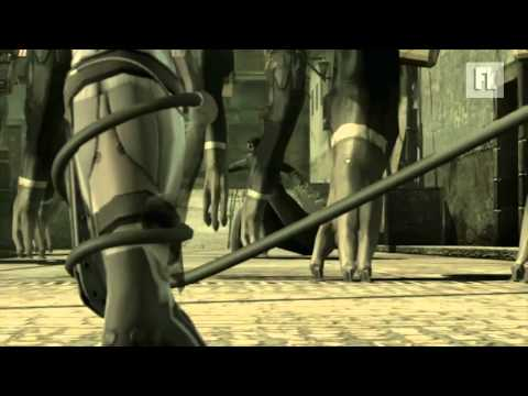 MGS4 Metal Gear Solid 4: Raiden Fighting Scene