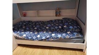 Best View UK Review! Happy Beds Domino Grey Wooden and Metal Kids Bunk Bed with Storage Shelves F..