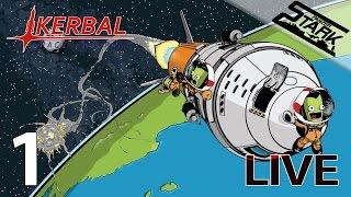 Kerbal Space Program - 1.Rész (funolás / holdjárót a holdra) - Stark LIVE