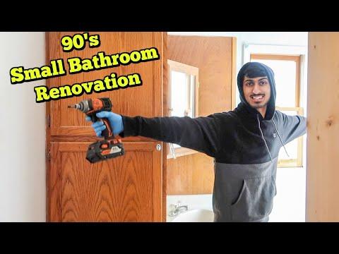Small Bathroom Renovation: Demo Day! Apartment Renovation Series