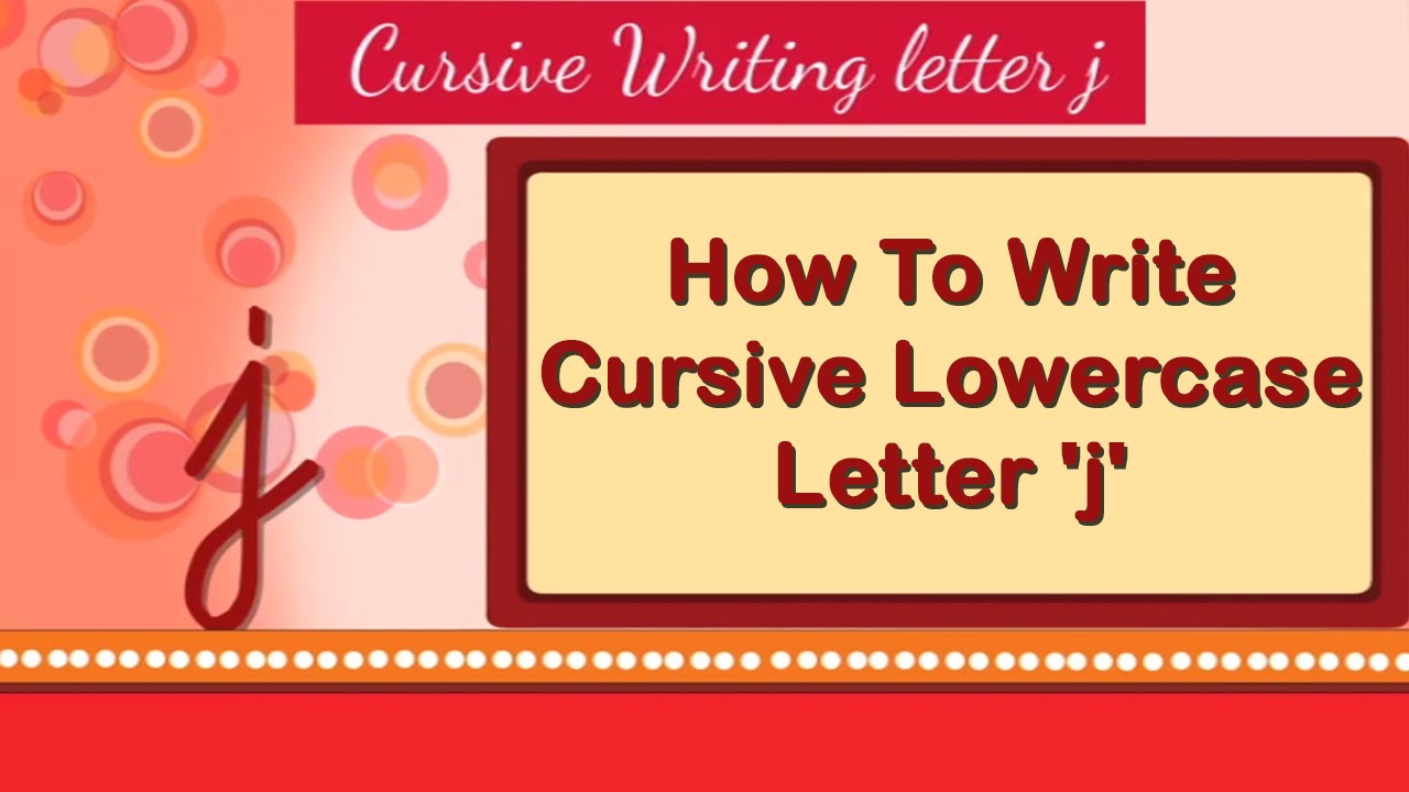 Worksheet How To Write A Cursive J how to write cursive lowercase letter j small youtube small