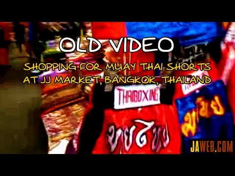 Shopping for Muay Thai Shorts at JJ Market (Chatuchak/Jatujak), Bangkok, Thailand