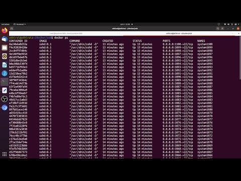 Docker 100 isolated development machines (containers) | Startup | College | School | SSHD