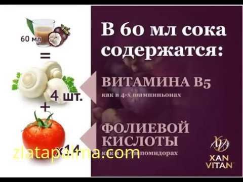 Сок из мангостина XAN-VITAN (Ксанвитан)
