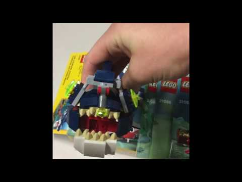 LEGO 3 In 1 Deep Sea Creatures The Shark The Squid And The Angler Fish Speed Build