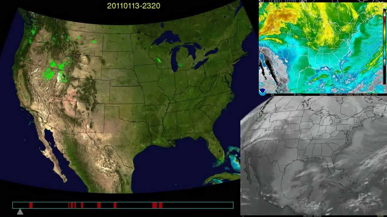 Satellite Weather Map Us.2011 Whole Year Weather Radar Satellite U S Youtube