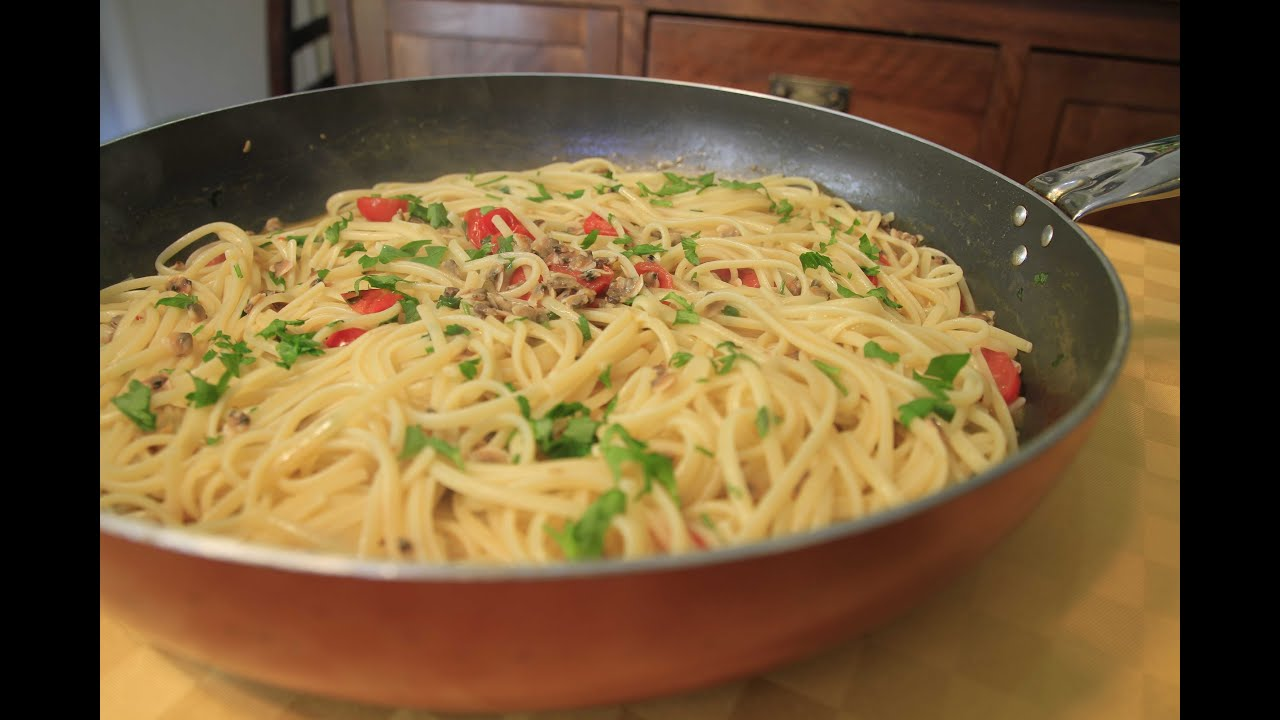 spaghetti con vongole surgelate - youtube