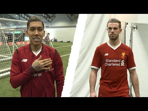 huge discount c07bd 33318 Behind the Scenes | Liverpool stars model the new 2017-18 home kit