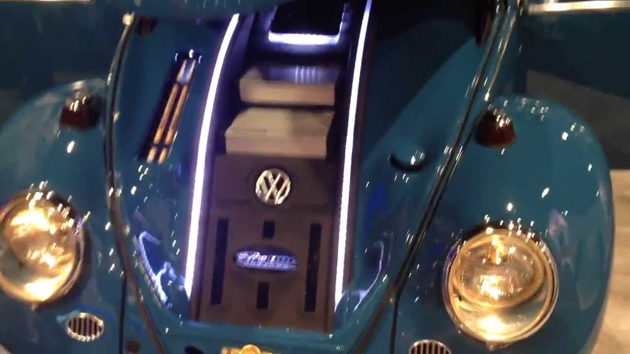 Kicker Vw Bug Custom Show Car Ces2014 Audio And Subwoofer Stereo