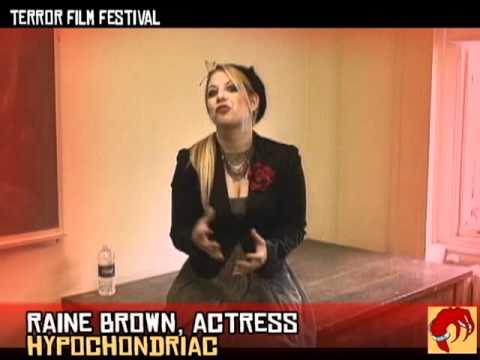 Actress Raine Brown at Terror Film Festival