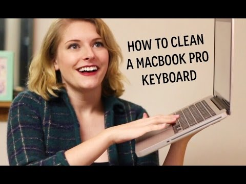 how to clean a macbook pro keyboard!