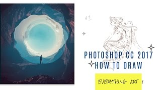 """How to draw Tutorial beginner """"photoshop 2017"""""""