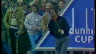 Seve Ballesteros v Greg Norman. Semi Final. Alfred Dunhill Cup.1988.St Andrews.