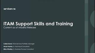 ITAM Support Skills and Training