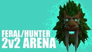 Feral Druid / Marksmanship Hunter 2v2 Arena   Legion World of Warcraft