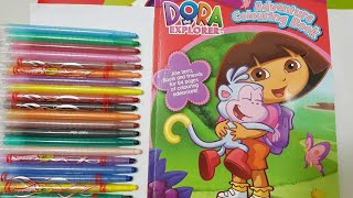 coloring  Dora The Explorer & adventure coloring book page crayola crayons for kids   Toys surprise