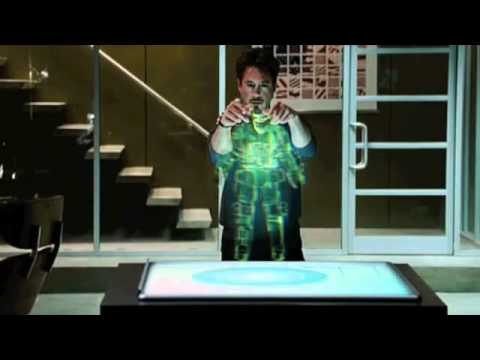 Iron man - Jarvis Holotable - YouTube