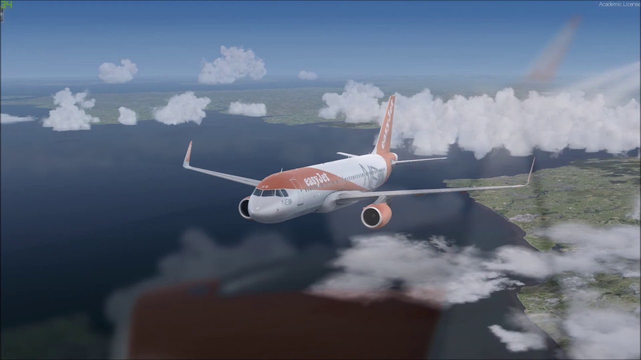 [P3D V4] EASYJET  -  EZY2430 | Edinburgh (EGPH) - Bristol (EGGD) | Aerosoft A320 NEO
