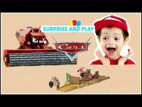 Disney Cars Tractor Tippin Launcher With Frank And The