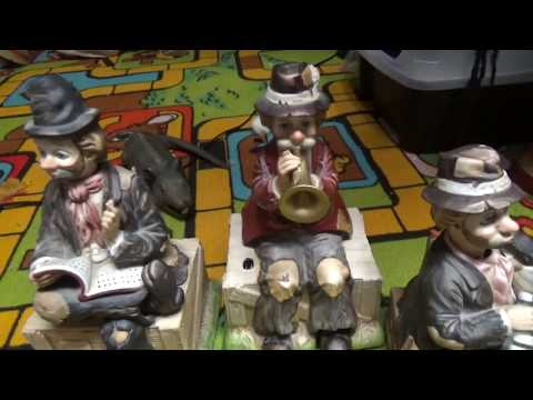 WACO Melody In Motion: Willie the Hobos (the original 3) and porcelain  santa