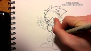 How to Draw # 1 : Sonic The Hedgehog (OVA Style)