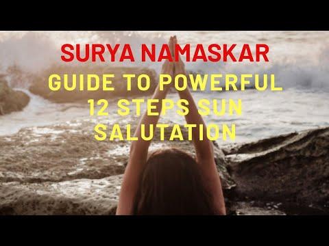 powerful 12 steps surya namaskar sun salutation  youtube