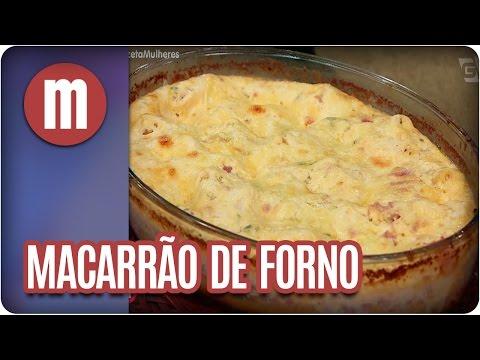 Macarrão de forno - Mulheres (22/03/17)