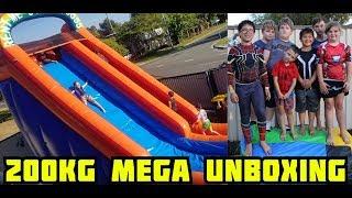 Giant 200 kg Water Slide Unboxing and Review  Mega Slide
