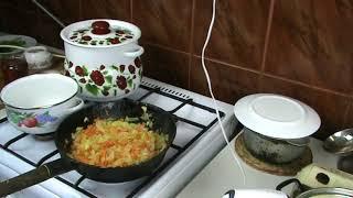 Антистрессовый обед после праздников Еда в деревне Манная каша Суп Кекс Компот