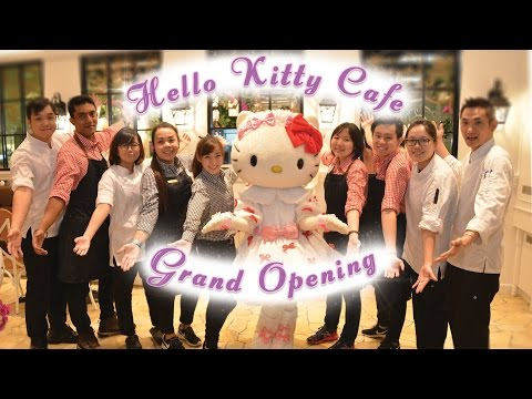 Hello Kitty Orchid Garden Café Grand Opening - 11 June 2016