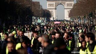 Трехмесячная годовщина протестов 'желтых жилетов'