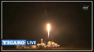 🚀 Décollage de la fusée DRAGON de SpaceX avec quatre astronautes vers l'ISS