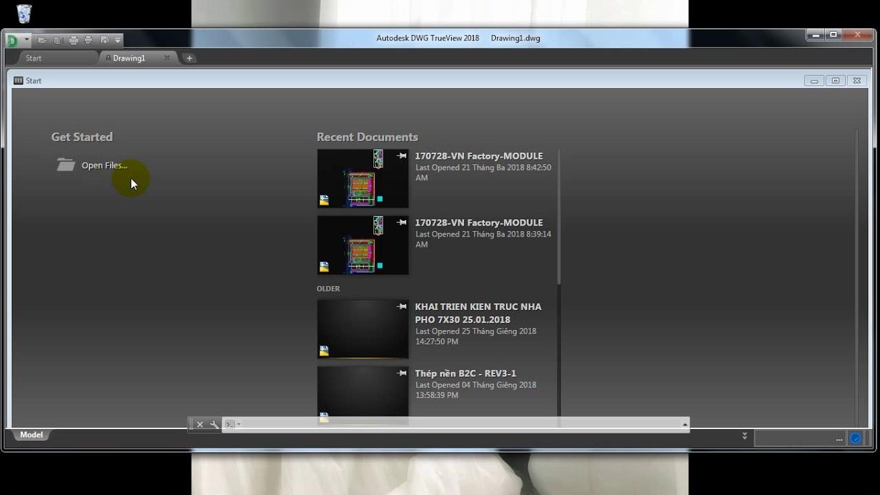 Chuyển đổi file autocad từ đời cao về thấp với DWG Trueview