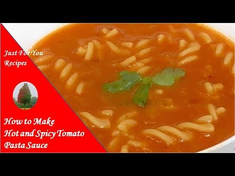 Hot And Spicy Tomato Pasta Soup
