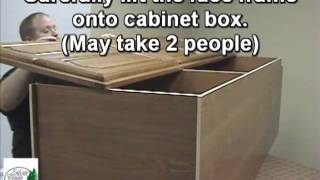 Silver Creek Cabinets Utility Pantry Cabinet Assembly Instructions