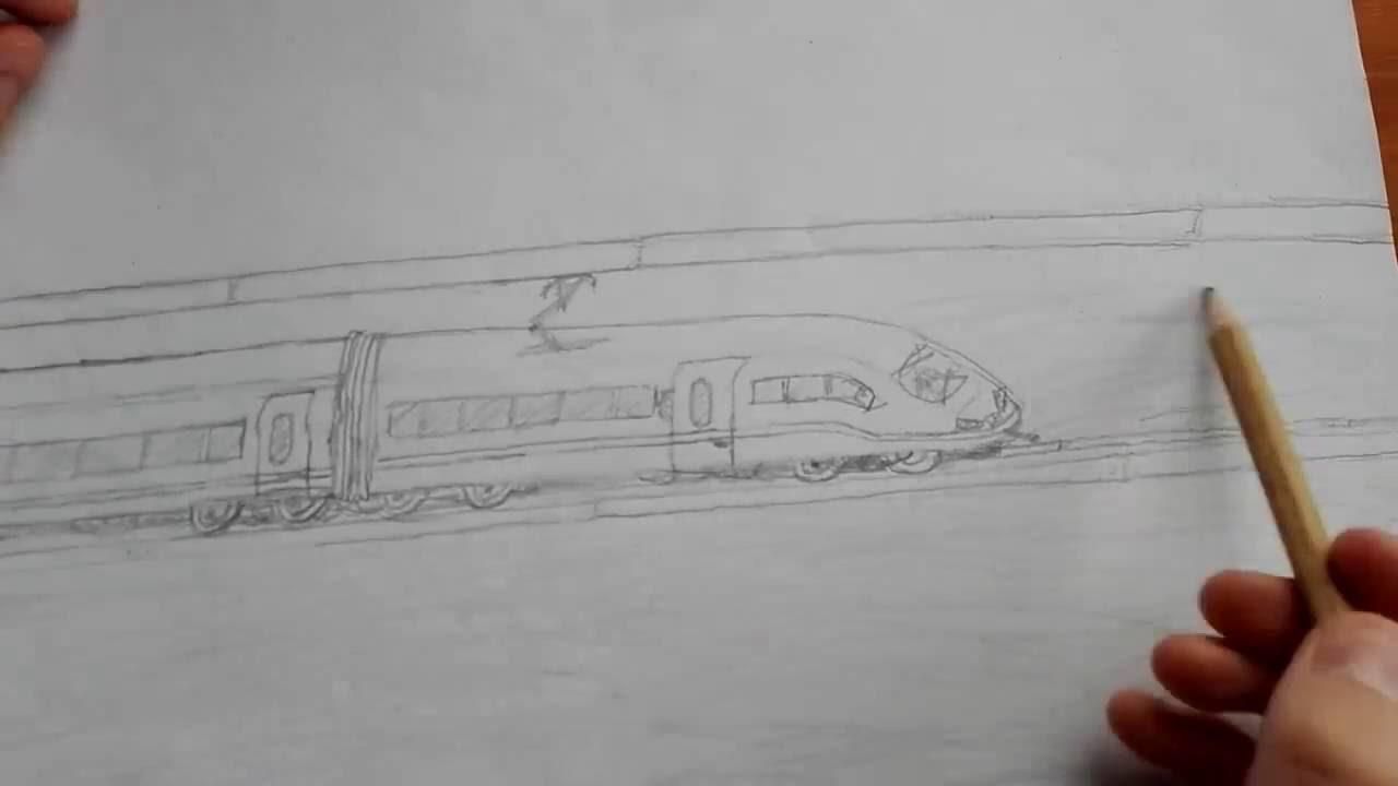 Ein Zug Gemalt Ecilop Zeichnen Youtube