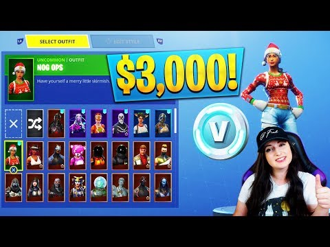 $3000 RARE Fortnite Locker Showcase! 100+ SKINS! Christmas + Season 2 (Fortnite Rarest Lockers)