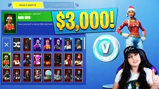 3000 $ RARE Fortnite Locker Showcase! 100 SKINS ! Christmas - Saison 2 (Fortnite Rarest Lockers)
