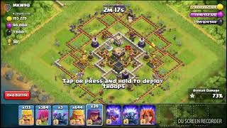 Clash of Clans Dominated the base using 500 Sneaky Archers and 81 Raged Barbarians!!!!