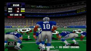 NFL GAMEDAY 2000\ LIONS vs DOLPHINS (Sick Gameplay) [PS1] [HD]