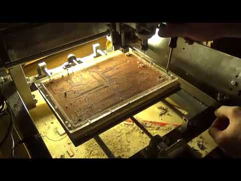 Double sided PCB milling on DIY CNC machine