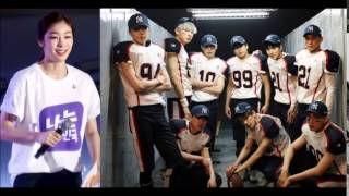 "Exo And Skating Atheltes Kim Yuna Records Song "" I Am Korea """
