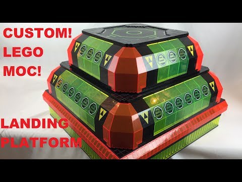Lego Space City Building - Custom Landing Platforms