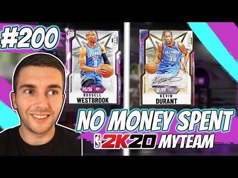 NBA 2K20 MYTEAM *NEW* PRIME GALAXY OPAL KEVIN DURANT!! PINK DIAMOND WESTBROOK   NO MONEY SPENT #200