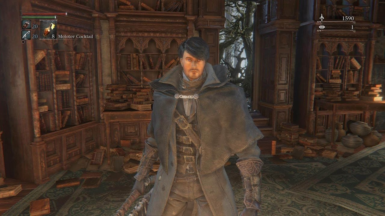Bloodborne- Make a GOOD Looking Male Character - YouTube