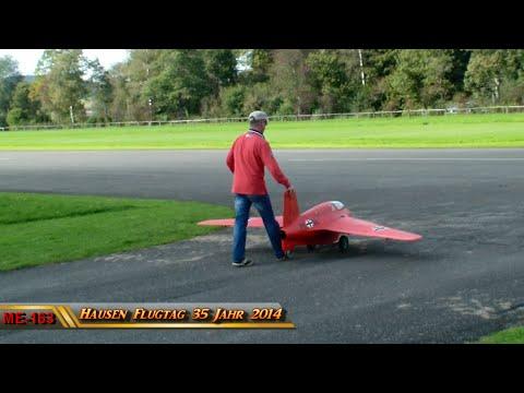 Red Rocket RC Jet ME-163 Komet turbine model Hausen Flugtag 2014 Sonntag