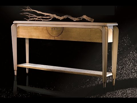 antique console table with storage